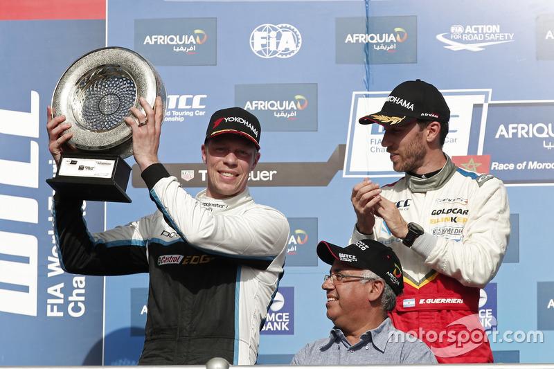 1. Esteban Guerrieri, Campos Racing, Chevrolet RML Cruze TC1; 2. Thed Björk, Polestar Cyan Racing, V