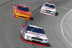 Ryan Blaney, Team Penske Ford, Kyle Larson, Chip Ganassi Racing Chevrolet and Cole Custer, Stewart-Haas Racing Ford