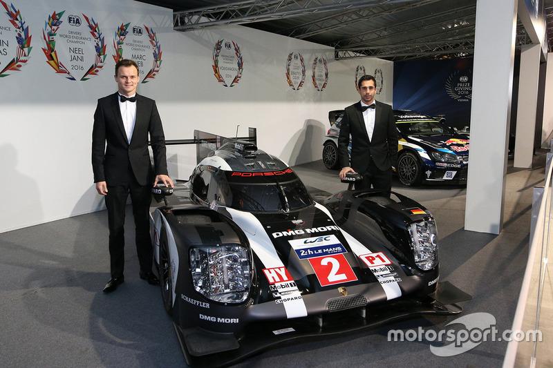 Campeón WEC Marc Lieb, Neel Jani, Porsche equipo