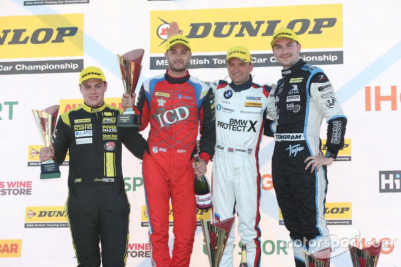 Podium, Senna Proctor, Power Maxed Racing Vauxhall Astra, Jack Goff, Eurotech Racing Honda Civic Typ