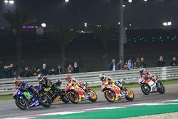 Maverick Viñales, Yamaha Factory Racing; Johann Zarco, Monster Yamaha Tech 3; Marc Marquez, Repsol Honda Team; Dani Pedrosa, Repsol Honda Team