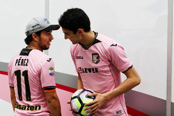Sergio Perez, Sahara Force India F1, Esteban Ocon, Sahara Force India F1