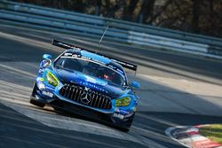 Hubert Haupt, Abdulaziz Al Faisal, Daniel Juncadella, Luca Stolz, AMG-Team Black Falcon, Mercedes AM