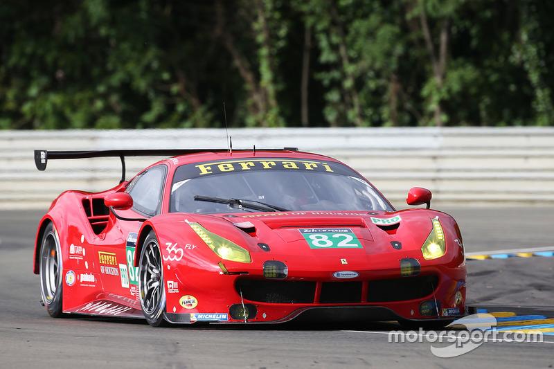 34: #82 Risi Competizione Ferrari 488 GTE: Giancarlo Fisichella, Toni Vilander, Matteo Malucelli