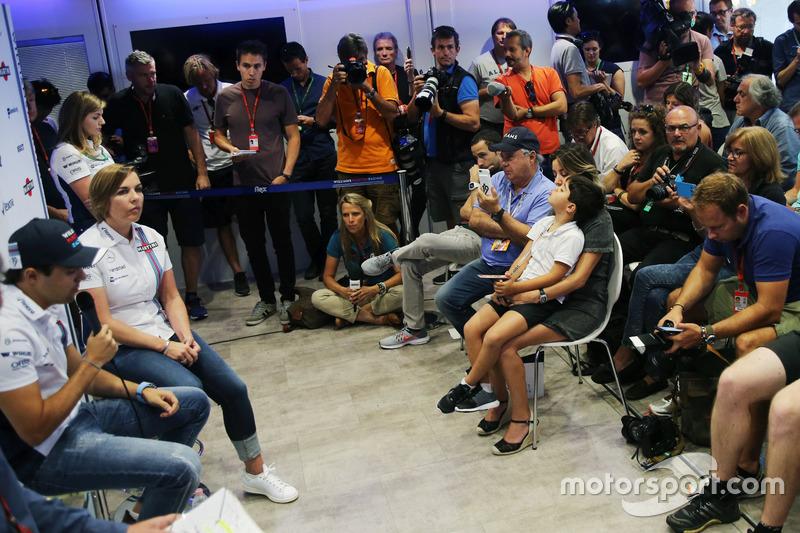 Felipe Massa, Williams and Claire Williams, Williams Takım Patronu Vekili; Massa sezon sonunda emekl