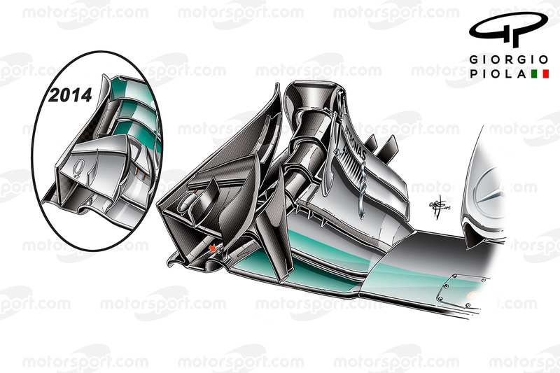 Mercedes F1 W06: Frontflügel, GP China
