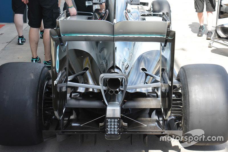 Detail Heckflügel, Mercedes AMG F1 W07
