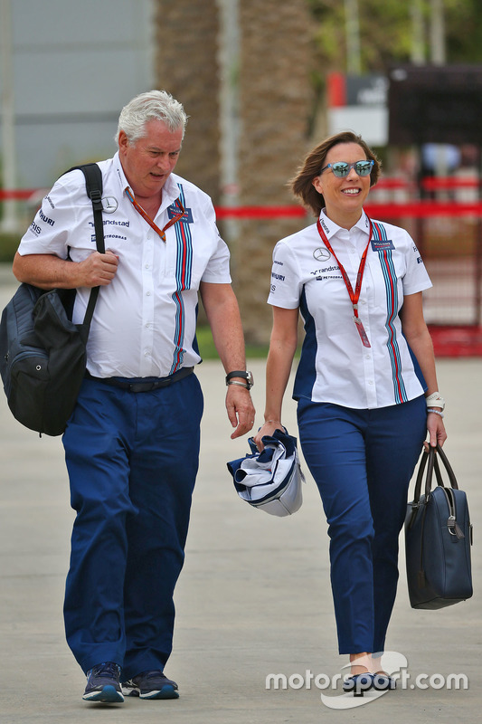 Pat Symonds, Williams Chief Technical Officer met Claire Williams, Williams Deputy Team Principal