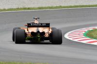 Stoffel Vandoorne, McLaren MCL33 arka difüzörde aero boyası