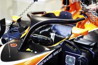 De halo op de McLaren MCL32