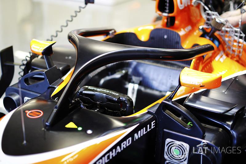 Le halo sur une McLaren MCL32