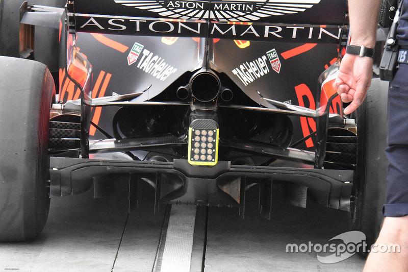 Detail diffuser Red Bull Racing RB14