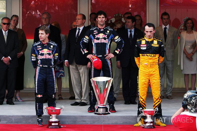Podyum: Yarış galibi Mark Webber, Red Bull Racing, second place Sebastian Vettel. Red Bull Racing, third place Robert Kubica, Renault