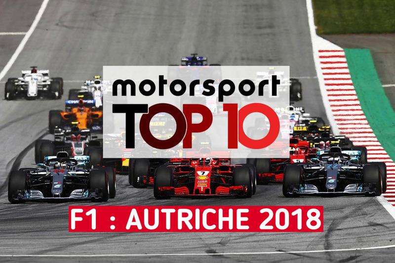 Le top 10 du GP d'Autriche