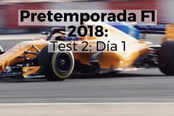 Primer día del segundo test de F1 en Barcelona
