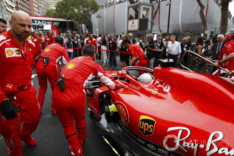 Sebastian Vettel, Ferrari, on the grid