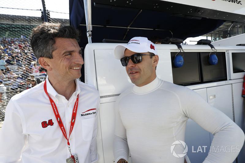 Oriol Servia, Scuderia Corsa with RLL Honda, Roberto Amorosi, team manager