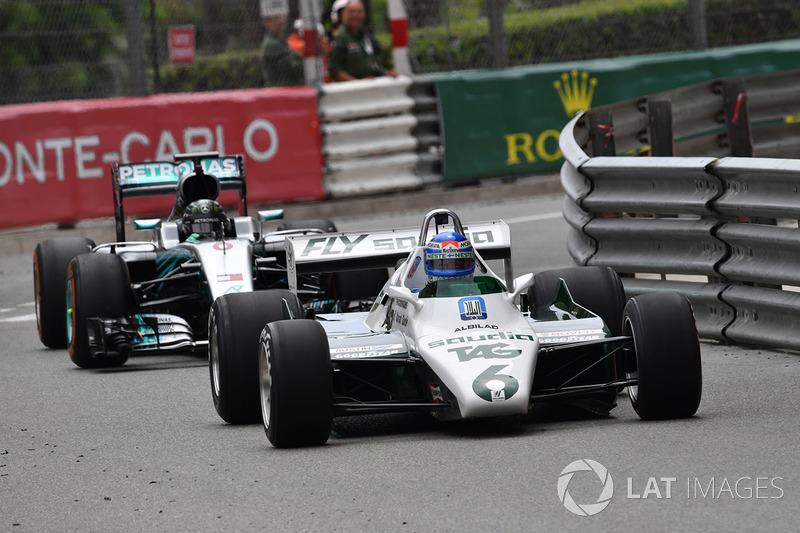 Keke Rosberg, Williams FW08 y Nico Rosberg, Mercedes-Benz F1 W07 Hybrid