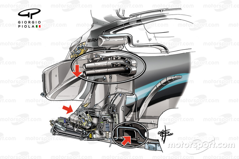 Mercedes AMG F1 W10, chassis