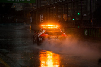Safety car under heavy rain
