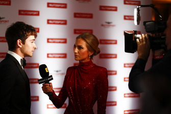 Charles Leclerc being interviewed on the red carpet