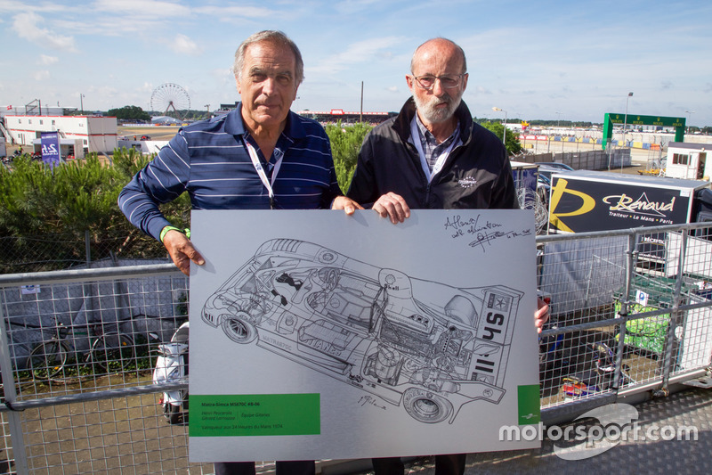 Motorsport.com technical illustrator Giorgio Piola offer his design of the 1974 Matra-Simca MS670C to Henri Pescarolo