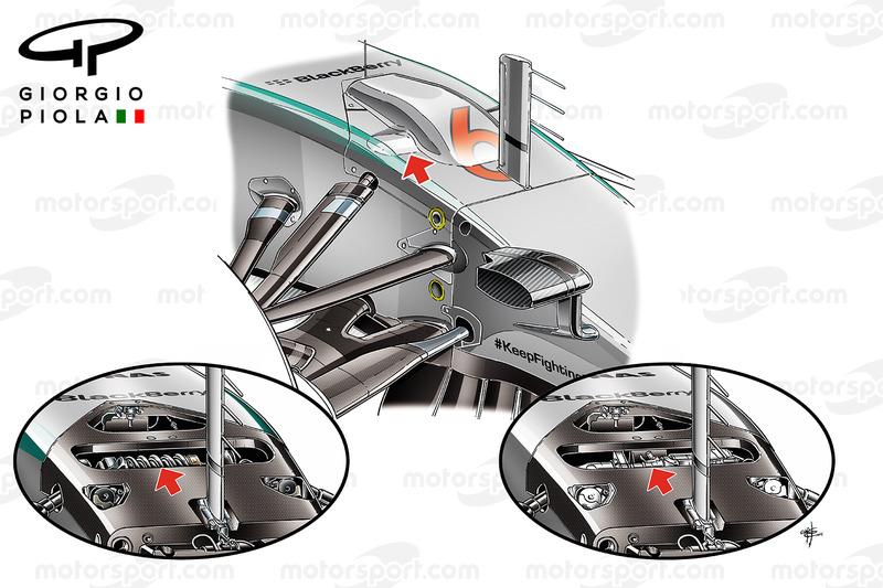 parties hydrauliques de la suspension de la mercedes w06 analyses techniques de giorgio piola. Black Bedroom Furniture Sets. Home Design Ideas
