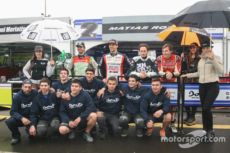 Juan Jose Ebarlin, Donto Racing Torino, Matias Rossi, Donto Racing Chevrolet, Laureano Campanera, Donto Racing Chevrolet, Augusto Carinelli, Donto Racing Chevrolet (TCP)