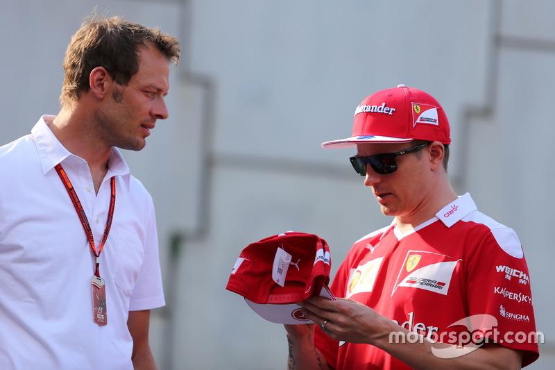 Alex Wurz, and Kimi Raikkonen, Scuderia Ferrari