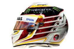 The helmet of Lewis Hamilton, Mercedes AMG F1