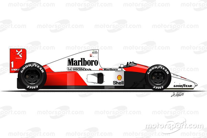 McLaren MP4-6 conducido porAyrton Senna