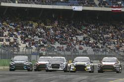Guy Wilks, Loco World RX Team, VW Polo, Mattias Ekström, EKS, Audi S1 EKS RX Quattro, Timur Timerzyanov, STARD, Ford Fiesta, Kevin Eriksson, MJP Racing Team Austria, Ford Fiesta ST