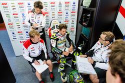 Cal Crutchlow, Team LCR Honda, mit Marco Barbiani, Team LCR Honda, Dateningenieur