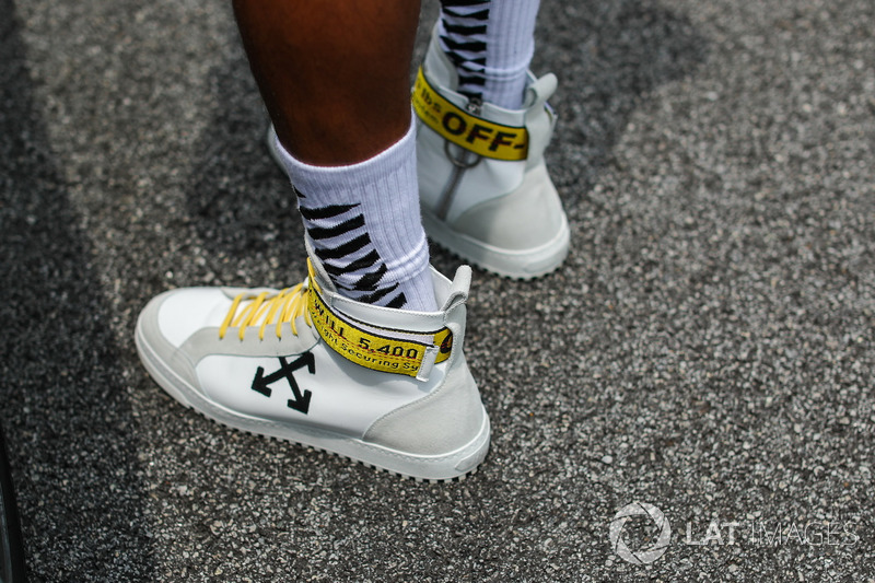 The shoes of Lewis Hamilton, Mercedes AMG F1
