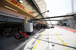The Haas F1 Team garage