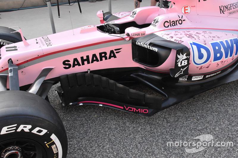 Force India VJM10: Seitenkasten und Windabweiser