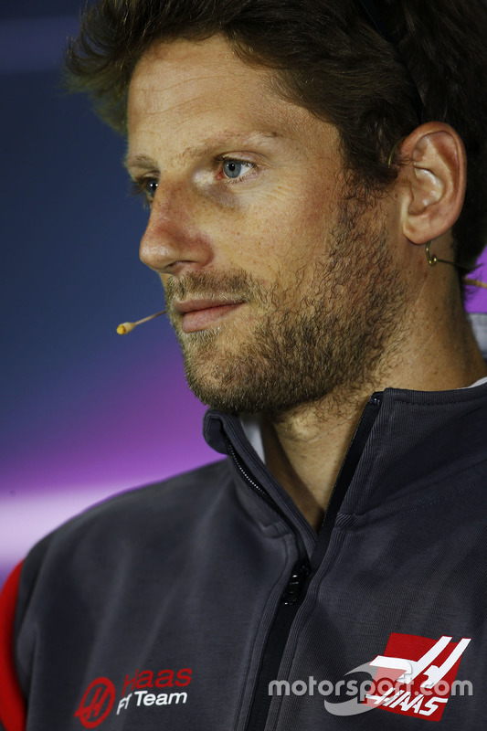 Romain Grosjean, Haas F1 Team, in the Thursday press conference