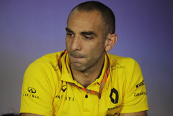 Cyril Abiteboul, Managing Director, Renault Sport F1 Team, nella conferenza stampa dei Team Principa