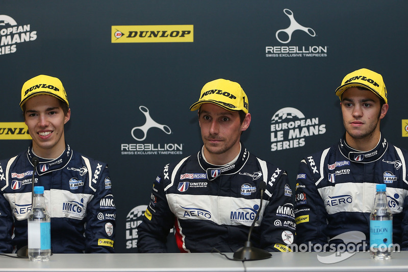 Race winners William Owen, Hugo de Sadeleer, Filipe Albuquerque, United Autosports
