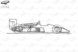 Williams FW11B 1987 schematic view