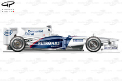 Sauber F1.09 side view