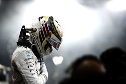 Lewis Hamilton, Mercedes AMG F1 en parc fermé