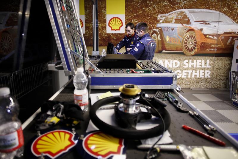 Zona del equipo Hyundai Motorsport