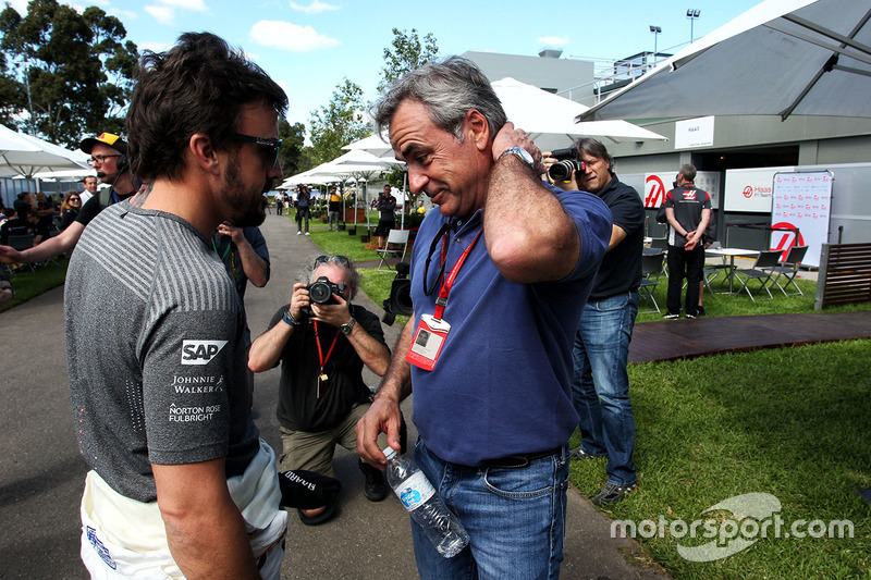 Fernando Alonso, McLaren con Carlos Sainz