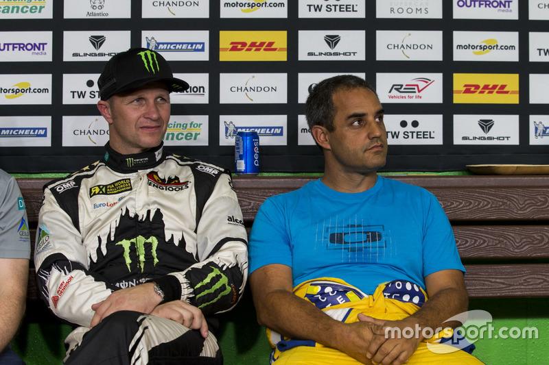 Petter Solberg en Juan Pablo Montoya