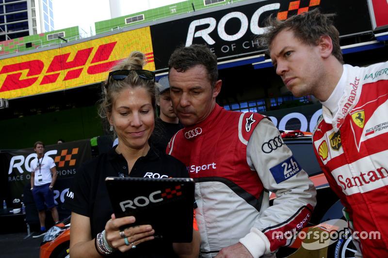Tom Kristensen y Sebastian Vettel
