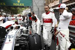 Charles Leclerc, Sauber, sur la grille