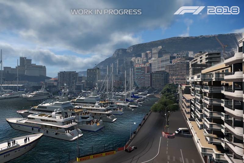 Le jeu vidéo F1 2018 à Monaco