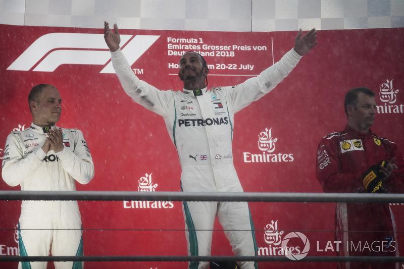 GP de Alemania: 1º Lewis Hamilton, 2º Valtteri Bottas, 3º Kimi Raikkonen
