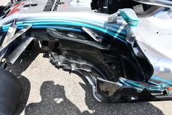 Mercedes-AMG F1 W09 detalle de la barcaza